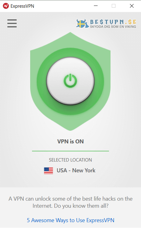 expressvpn windows connected
