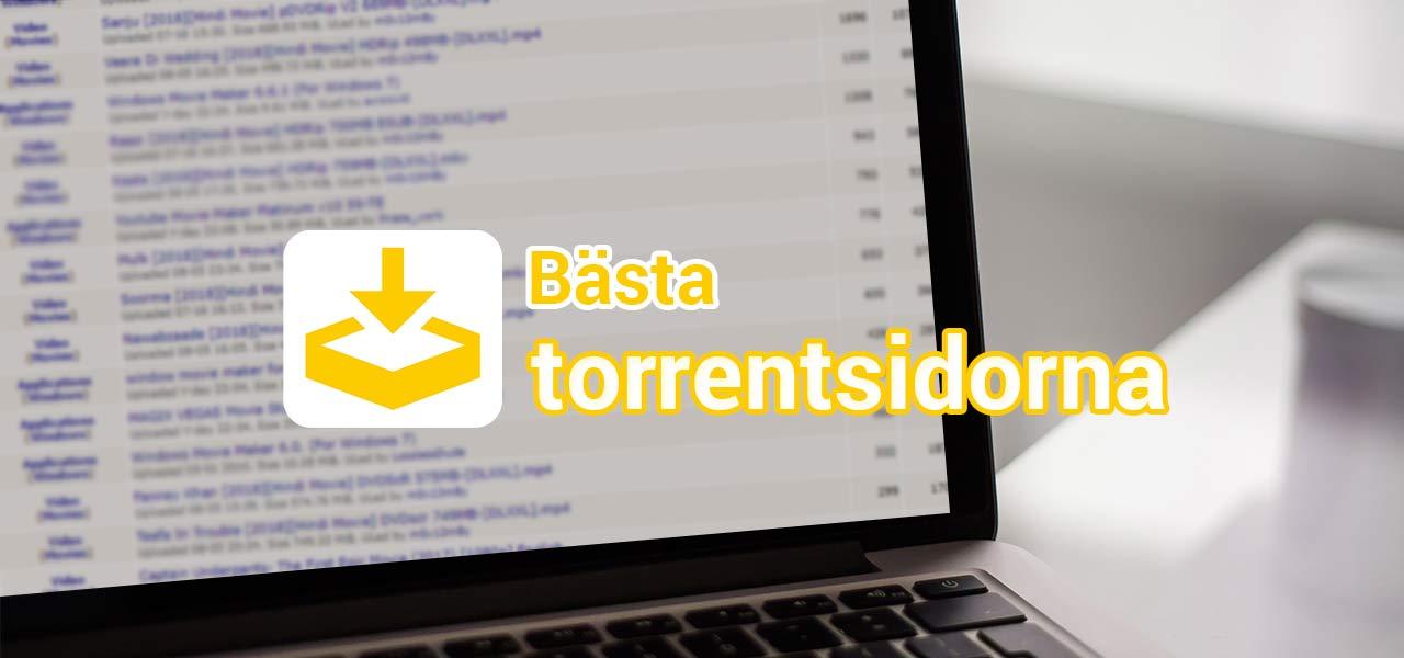 bästa sidorna för nedladdning av torrents