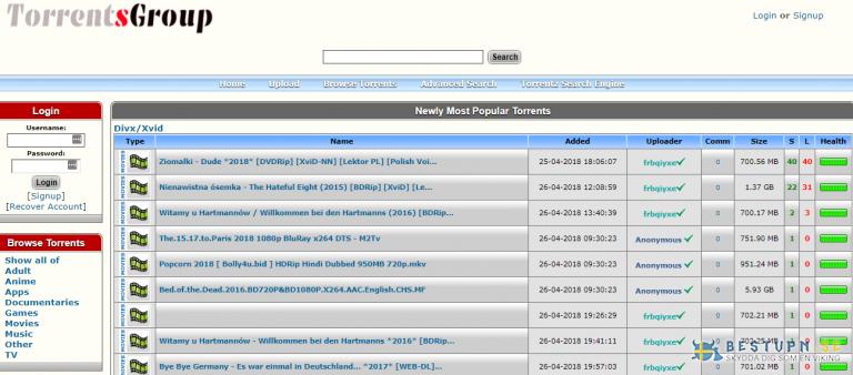 torrentsgroup nedladdning av torrents