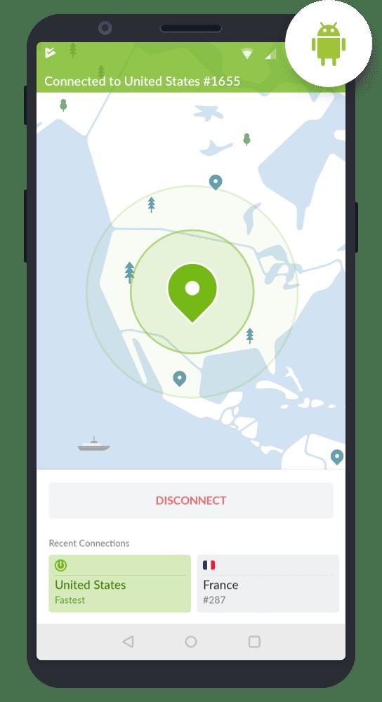 NordVPN för Android-telefoner