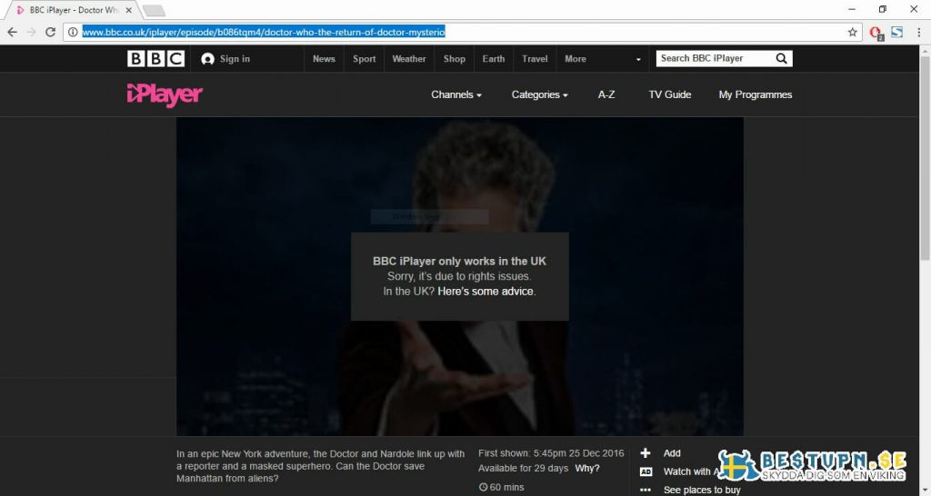 Se BBC i Sverige med VPN
